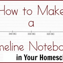 How to Make a Timeline Notebook in Your Homeschool
