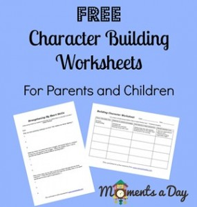 Free Character Building Worksheets | Free Homeschool Deals ©