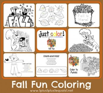 Free Fall Coloring Printables
