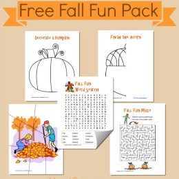 Free Printable Fall Fun Pack
