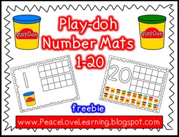 Free Play Doh Number Mats 1 20 Free Homeschool Deals