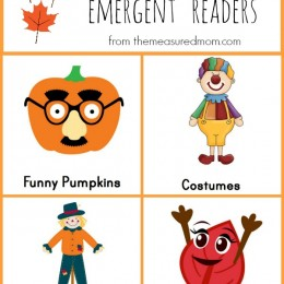 Free Printable Fall Emergent Readers