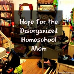 Hope for the Disorganized Homeschool Mom {and a Menu Plan}