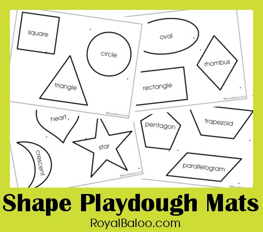 Free Shape Play Dough Printables : Free Homeschool Deals