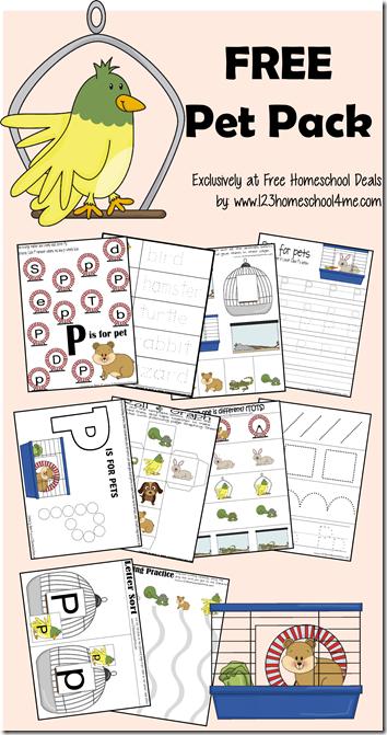Free Pet Themed Printable Pack Free Homeschool Deals
