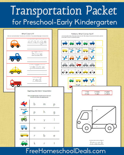 Free Transportation-Themed Printable Packet for Prek/Early K ...