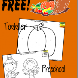 Free Thanksgiving Color by Number Printables