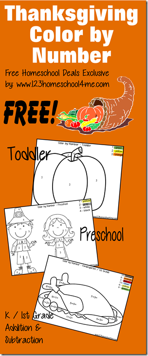 Thanksgiving: Free Download Thanksgiving Color by Number | Free ...