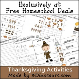 Free Thanksgiving Activities Printable Pack – 16 Pages!