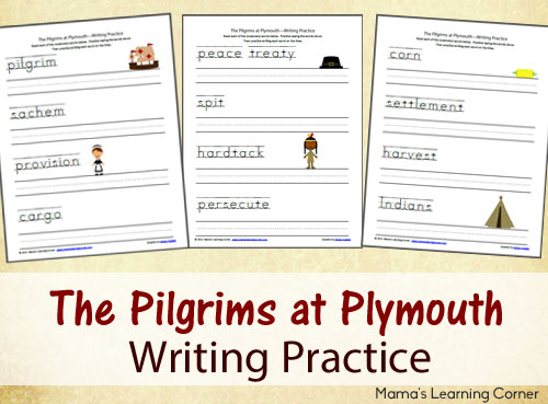 thanksgiving free the pilgrims at plymouth writing practice free homeschool deals. Black Bedroom Furniture Sets. Home Design Ideas