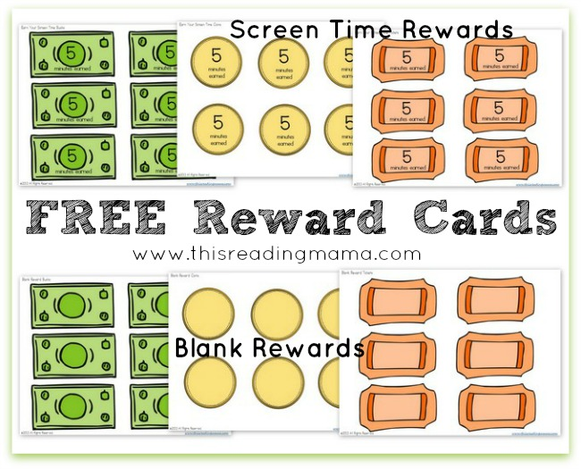 free reward card printables  using a reward system to