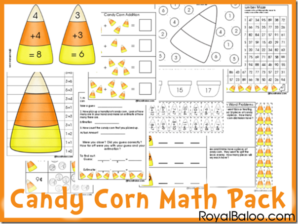 Math Free Candy Corn Math Printable Pack Free