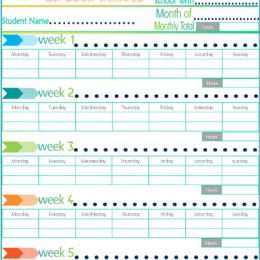 Free Community Service Tracking Printable