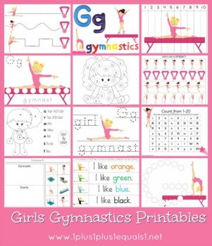 Free Girls Gymnastics Printables