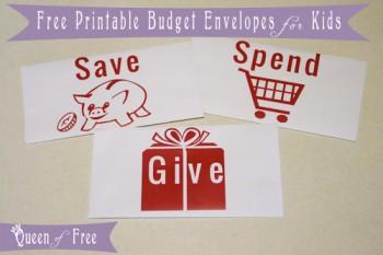 Free Printable Budget Envelopes For Kids Free Homeschool