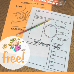Free Vocabulary Notebooking Pages