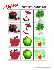 Apple Memory Matching Game