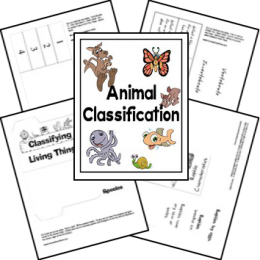 Free Animal Classification Lapbook
