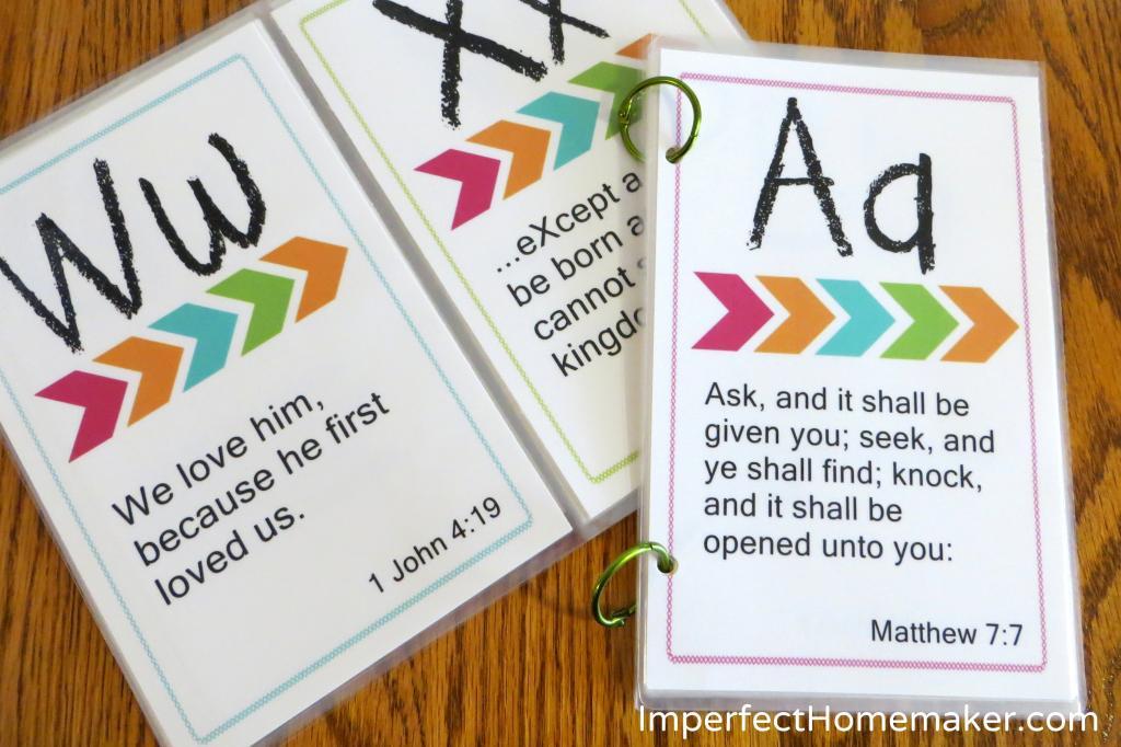 Free printable abc bible memory verses for preschoolers free