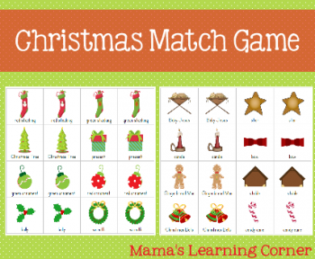 Free Christmas Match Game | Free Homeschool Deals
