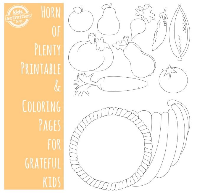 Thanksgiving Coloring Pages Horn