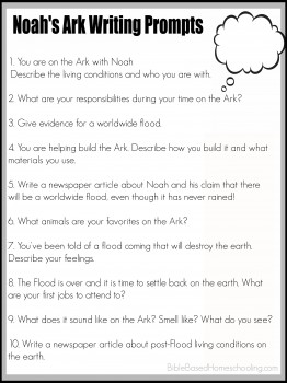 Free Noah S Ark Writing Prompts Printable Free