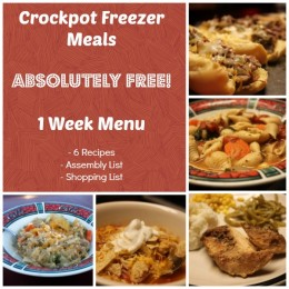 Free e-Cookbook: Crockpot Freezer Meals Weekly Menu
