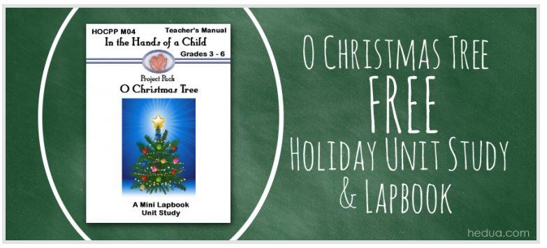 Christmas Lapbook: Free O Christmas Tree Unit Study