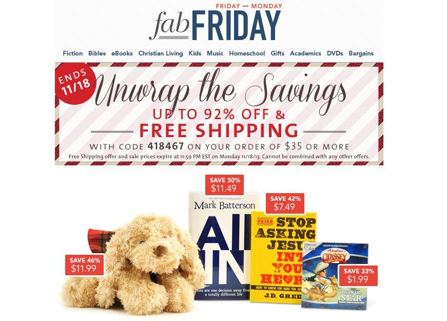 Christian book distributors free shipping coupons