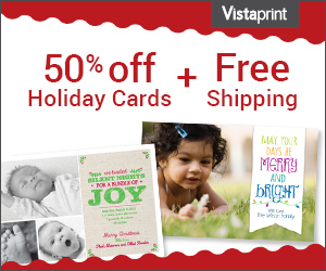 Check out Vistaprint's weekly specials to save up to 50% on business cards, signage, invitations and marketing materials. New customers may also be eligible for free shipping and other promotional offers%().