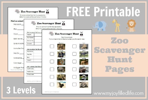 Zoo Scavenger Hunt (free printable game | Zoo scavenger hunts ...