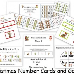 Christmas Number Cards and Math Games: Free Printables