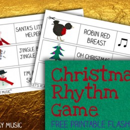 Free Music Flashcards: Christmas Rhythm Game