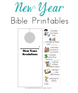 Free New Year's Bible Printables | Free Homeschool Deals