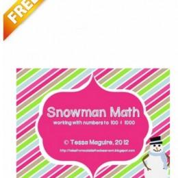 Free Printables: 6 Snowman Math Centers (save $4!)