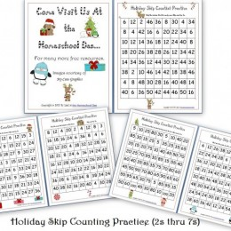 Holiday Skip Counting Pages – Free! (2s thru 7s)