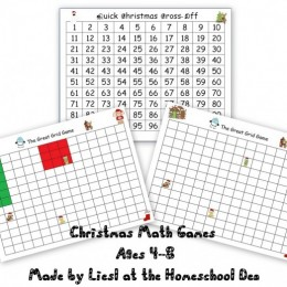 Free Christmas Math Games: Double Digit Number Game, Grid Game, + More!