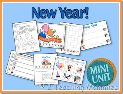 new year worksheets for kids