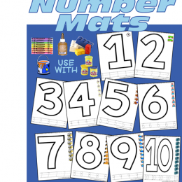 Printable Number Mats – Free!