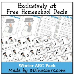 Free Winter ABC Printable Pack {instant download!}