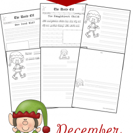 Free Christmas Elf Creative Writing Pages