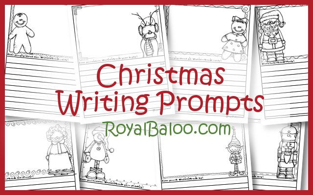 Here's a set of free Christmas writing Prompts from Royal Baloo!