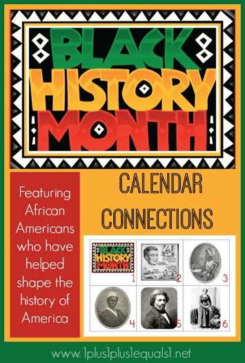 Black History Month Free Calendar Connections Printables