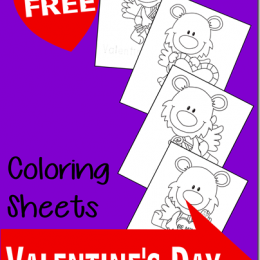 Valentine's Day Coloring Worksheets