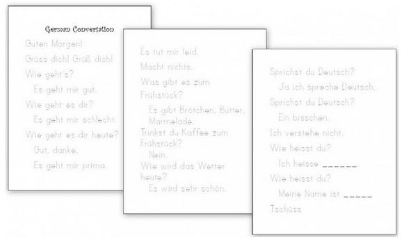 free worksheets german for kids free homeschool deals. Black Bedroom Furniture Sets. Home Design Ideas