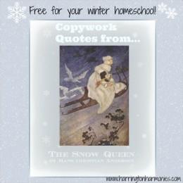 Free Copywork: The Snow Queen Copywork