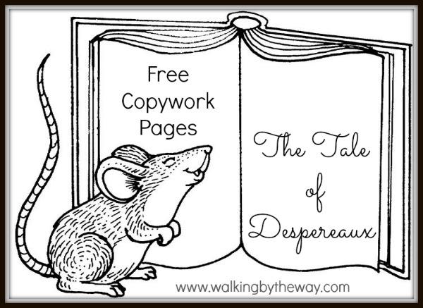 The Tale of Despereaux Copywork