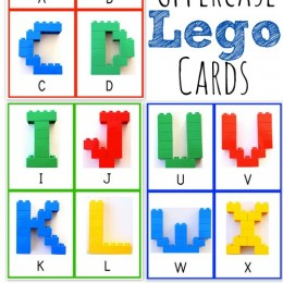 Free Uppercase Alphabet LEGO Cards