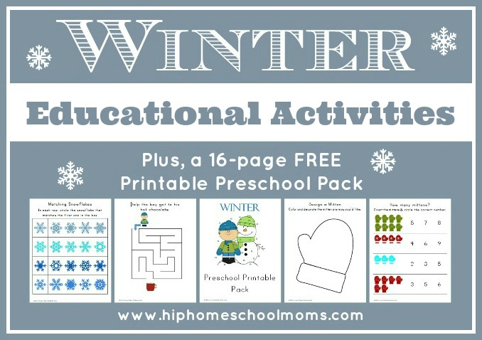 free winter preschool printables pack free homeschool deals. Black Bedroom Furniture Sets. Home Design Ideas