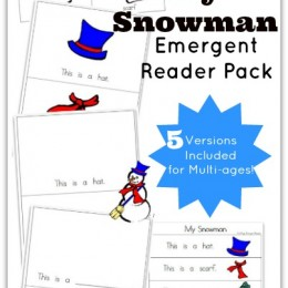 My Snowman Emergent Reader Pack (includes 5 versions for multi-ages!)